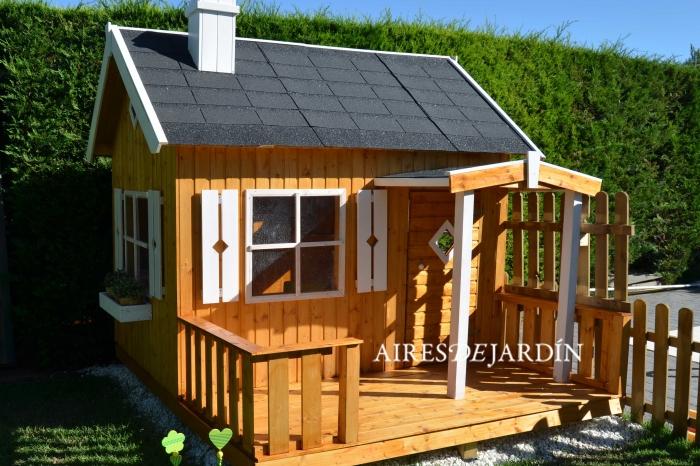 Resultado de la instalaci n de la casita de madera para - Casitas de maderas infantiles ...