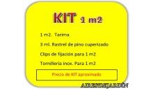 foto exterior KIT  de 1 m2 de tarima de Cumarú + accesorios