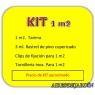 KIT  de 1 m2 de tarima de Cumarú + accesorios