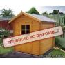 Cabaña de madera Acacia 200x200 cm