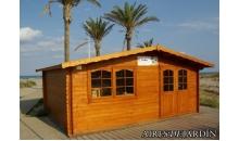 foto exterior Cabaña de madera Zinnia 500x400 cm