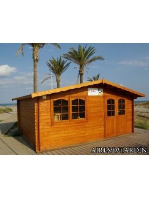 Caba a de madera zinnia 500x400 cm tene kaubandus for Precios cabanas de madera baratas