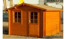 foto exterior Cabaña de madera Dalia 300x300 cm