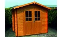 foto exterior Cabaña de madera Hiedra 300x300 cm