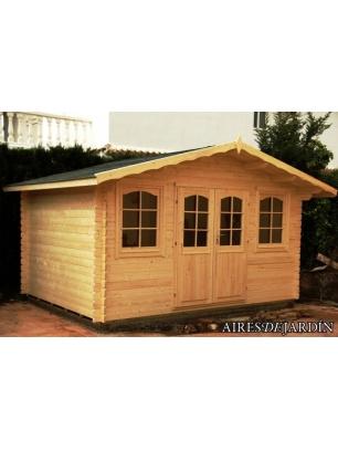 Caba a de madera tomillo 400x300 cm caba as de madera en for Oferta caseta jardin