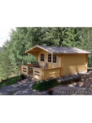 Caba a de madera silene 380x320 cm ofertas de caba as for Oferta cabanas de madera