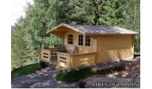 foto exterior Cabaña de madera Tulipan 380x380 cm