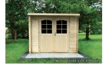 foto exterior Cabaña de madera Hortensia 290x290 cm