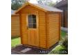 Vista exterior Cabaña de madera Azalea - Tina A