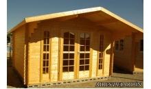 foto exterior Cabaña de madera Buganvilla 380x380 cm