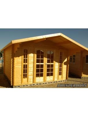 Caba a de madera buganvilla 380x380 cm tene kaubandus for Oferta cabanas de madera