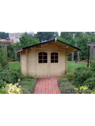 Caba a de madera lila 320x250 cm outlet caba as para for Cabanas para jardin