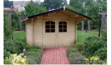 foto exterior Cabaña de madera Rosa 320x280 cm