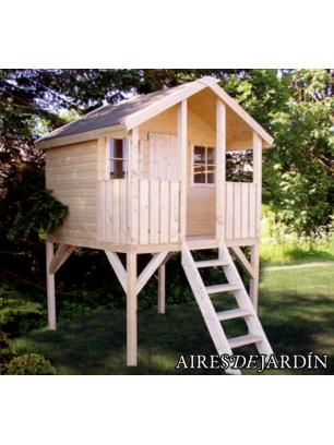 Casita para jardin good casa de madera makro m u caseta for Casa infantil jardin