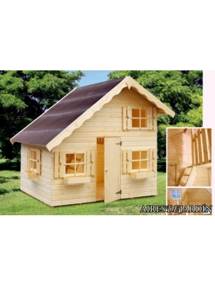 Casita infantil tom 220x180 cm casitas infantiles de for Casetas de jardin metalicas baratas
