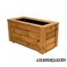 Jardinera de madera de pino tratado en autoclave de 120x40x40 cm.