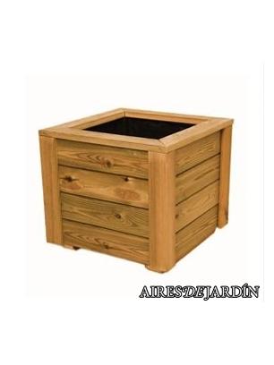 Jardinera de madera de pino tratado en autoclave de 50x50x50 cm ...