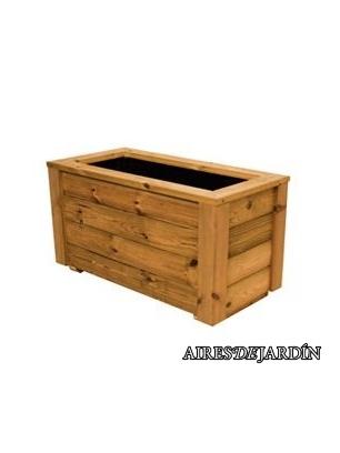 Jardinera de madera de pino tratado en autoclave de for Autoclave tratado jardin cobertizo