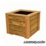 Jardinera de madera de pino nórdico tratado en autoclave de 60x60x60 cm.