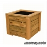Jardinera de madera de pino nórdico tratado en autoclave de 100x100x30 cm.