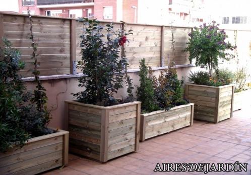Jardineras de madera for Jardineras de madera para exterior