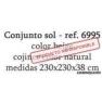 CONJUNTO SOL Aluminio Rattan Sintético