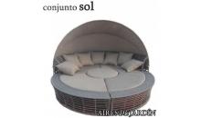 foto exterior CONJUNTO SOL Aluminio Rattan Sintético