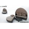 SET COMBI Aluminio Rattan sintético