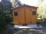 Resultado instalación caseta de madera Christa 3 en Petra (MALLORCA)