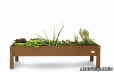 Mesa de cultivo urbano en marron de 160x60x40 cm. - 1