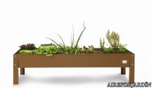 foto exterior Mesa de cultivo urbano en marron de 160x60x40 cm.