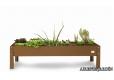 Mesa de cultivo urbano de 110x60x40 cm. color marron - 1