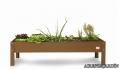 Mesa de cultivo urbano de 110x60x40 cm. de color Blanco