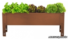 foto exterior Mesa de cultivo Previus en Acero Corten de 40 cm.