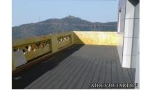 foto exterior Tarima sintetica Timbertech Terrain color Silver Maple de 2440x136x25 mm.
