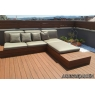 Tarima sintetica Timbertech Earthwood Evolution Tropical de color Pacific Teak de 2440x138x24 mm.