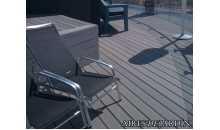 foto exterior Tarima sintetica Timbertech XLM color Harbor Stone de 3660x140x25 mm.