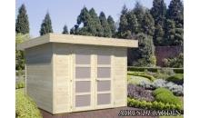 foto exterior Cabaña de madera Lara 1 de 250 x 250 cm.