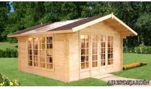 foto exterior Caseta de madera Irene 1 de 400 x 400 cm.