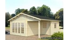 foto exterior Casa de madera Irene 4 de 530 x 570 cm.