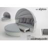 SET ALPINO Aluminio Rattan sintético