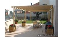 foto exterior Pergola de madera autoportante modelo Tarragona de 195x195 cm.
