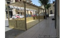 foto exterior Pergola de madera autoportante modelo Abrera de 195x295 cm.
