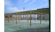 foto exterior Pergola de madera autoportante modelo Llavaneres de 295x395 cm.
