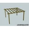 Pergola de madera autoportante modelo Llavaneres de 295x395 cm.