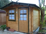 Resultado instalación por nuestros montadores de una casita de madera Laura 2 en un camping de Tossa de Mar (GIRONA)