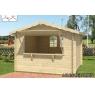 Cabaña de madera Loto 300x300 cm