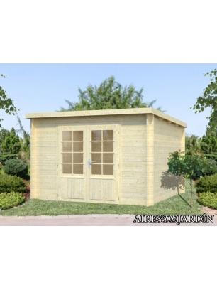 foto exterior casita de madera ella de x cm
