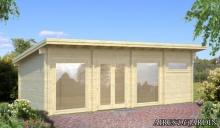 foto exterior Casa de madera Heidi 2 de 840 x 320 cm