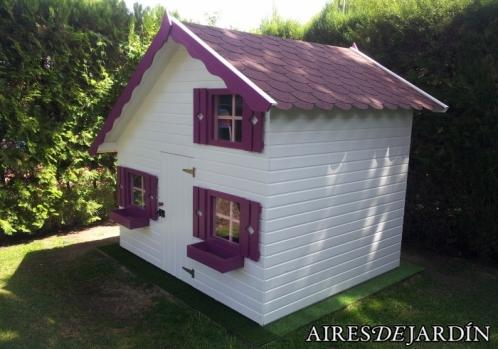 Fotograf as casita de madera tom instalada por unos - Casetas de madera infantiles ...